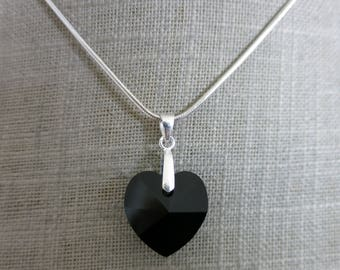 """Black heart"" pendant"