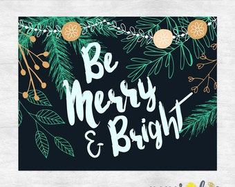 Be merry holiday cards / Christmas cards / Christmas greeting cards / Holiday card set / printed cards