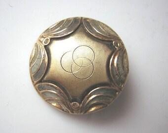 """Beautiful antique button, gilt , brass, 0.85"""""""