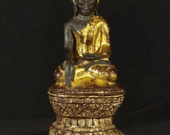 18th Century Antique bronze Buddha statue from Burma