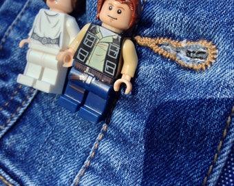 Han Solo Minifigure pin badge brooch quirky fun Star Wars gift