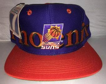 Vintage Phoenix Suns snapback hat cap nba basketball 90s nwt deadstock charles barkley Booker LOGO 7 wraparound
