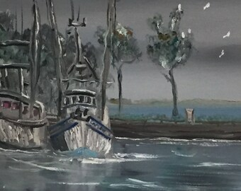 Fishing Boats at the Dock (Apalachicola, FL)