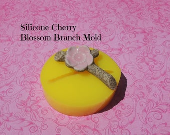 Blossom Mold, Silicone Cherry Blossom, Cherry Blossom Mold, Chocolate Mold, Fondant Moulds, Resin Cherry Blossom Mold, Branch Mold, Soap