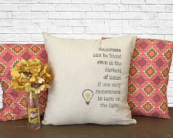 Dumbledore Quote Pillow, Throw Pillows, Quote Pillow, Pillow Cover, Decorative Throw Pillows, Harry Potter Pillow, burlap pillows