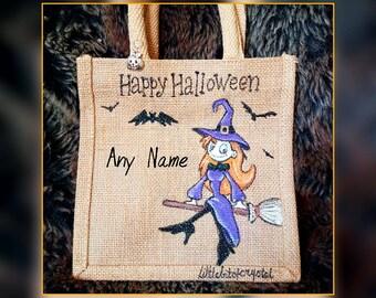 Littlebitofcrystal hand made witch halloween bag 20x20x13cm