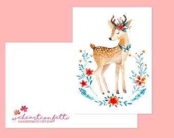 autumn card 'Deer' - weheartconfetti