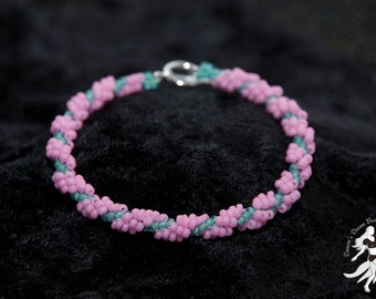 Cherry Blossom Colored Spiral Rope Bracelet