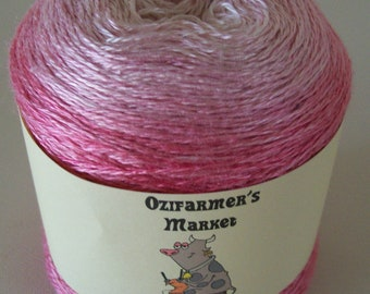 Indulgence: 2ply/Laceweight pink Grade A Mulberry Silk  - Cherry Blossom