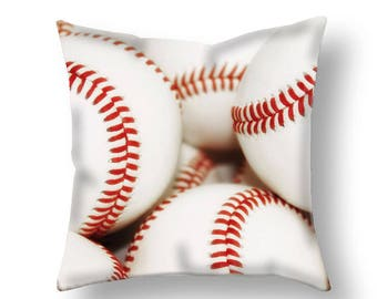 Baseball Pillow Cover-Baseball Decor-Baseball Lumbar Pillow-Outdoor Decor-Sports Decor-Boys Room Toss Pillow-Sofa Pillow-Rectangular Pillow