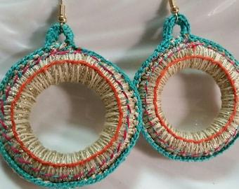Circle Colored Earrings