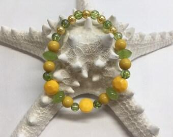 Lemon Lime Delight handmade bracelet