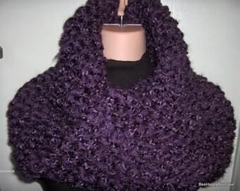 Claire Sassenach Cowl, chunky knit, Purple womens cowl, outlander, sassenach claire chunky cowl, Outlander Cowl, Outlander Scarf