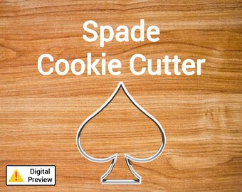 "4"" Spade Cookie Cutter (Icon Set)"