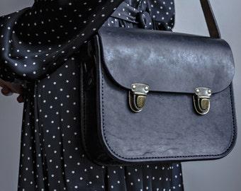 Leather Bag Handbag Cross-body Bag Bag Vintage bag Handmade Retro Genuine Leather Brown Black Metropolitan Fashion Women Bag Evening Bag