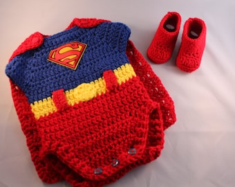 Baby Superman Costume or Photo Props Outfit.