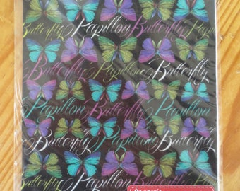 Silhouette printed felt butterflies A5 Stamperia