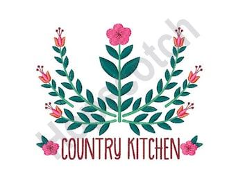 Country Kitchen - Machine Embroidery Design, Flowers