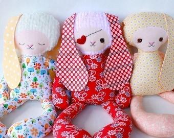 SALE Bailey Bunny PDF Doll Pattern