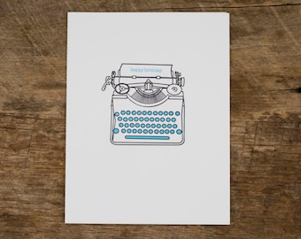 Typewriter Birthday Card