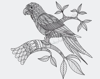 bird mandala etsy