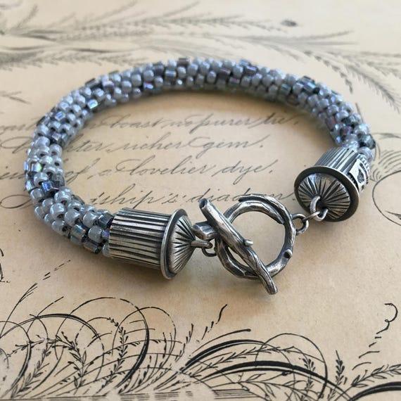 Kumihimo Bracelet, Kumihimo Jewelry, Beaded Bracelet, Woodland Jewelry