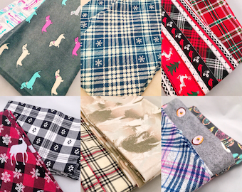 Flannel Infinity Scarves