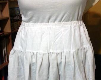 CUSTOM Eyelet Lace Cotton Petticoat