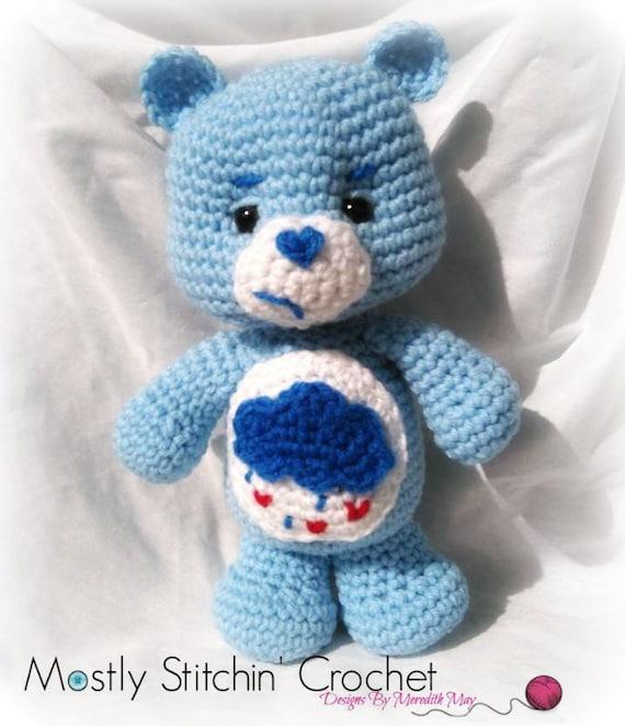 Care Bear Grumpy Bear CROCHET PATTERN PDF