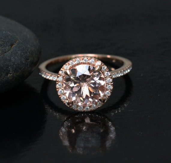 Pink Morganite Engagement Ring in 14k Rose Gold Morganite