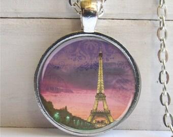 Paris Necklace, Eiffel Tower Pendant, Paris Jewelry, Art Pendant