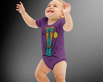 FLASH SALE The Joker Costume Onesie | Batman | Halloween Costumes | Kids Cosplay | Joker | DC Comics | Costume Onesie | Baby Shower Gift