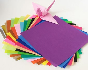 Origami Paper Sheets - Colored Paper Assortment - 180 Sheets