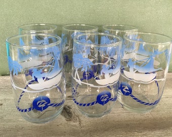 Nautical boat drinking glasses