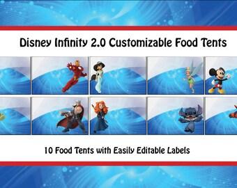 Disney Infinity Themed Food Tents