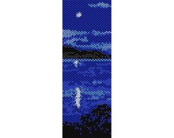 Moon Lake Peyote Bead Pattern, Bracelet Pattern, Bookmark Pattern, Seed Beading Pattern Miyuki Delica Size 11 Beads - PDF Instant Download