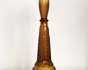 Stunning DABS Portugal amber glass bottle / decanter / genie bottle?