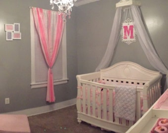 Bed Crown custom  FREE SHEERS, Crib Canopy
