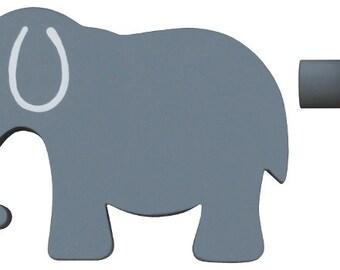 Elephant Drawer Knob - Grey (Gray) Elephant Drawer Pull
