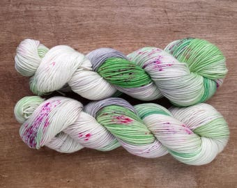 Wildflower (OOAK)  sport sock yarn - SW Merino/Nylon  (328 yards) sport weight