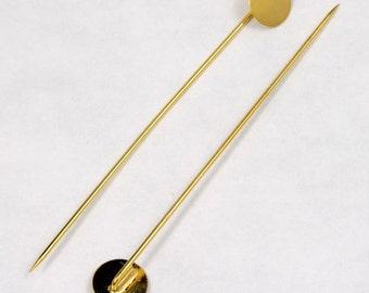 70mm Gold Stick Pin w/ 10mm Pad #MFC013