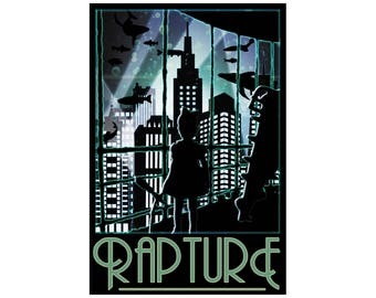 "Rapture 13"" x 19"" Travel Poster - Bioshock"