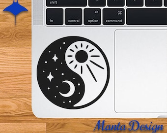 Sun and Moon Ying and Yang Vinyl Decal