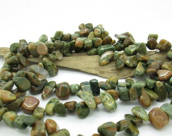 Stunning Rhyolite Large Nugget Beads, Natural Gemstone Bead, Multicolor Nugget Bead,  7x10-19x10mm