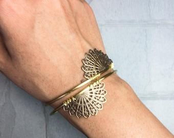 simple cuff bracelet, minimalist open cuff bracelet, thin gold cuff, bangle bracelet, under 50 dollars, gold stacking bracelets, layering