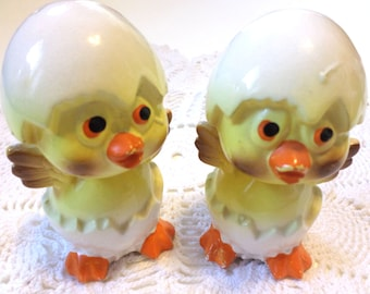 Vintage Hatching Chicks Salt and Pepper Shakers