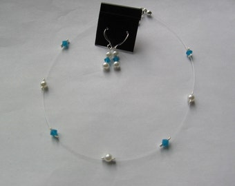 Flower Girl Swarovski Necklace Set