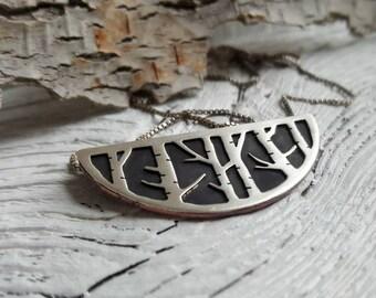 Birch Forest Pendant - Silver Birch Necklace