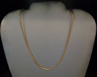 """18K Gold Plated 20"""" Chain Necklace - Vintage - 1960s"""