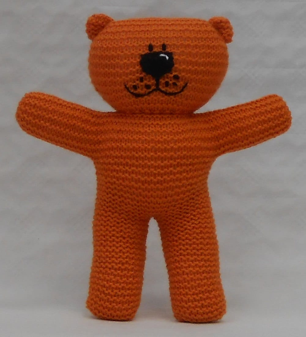Easy To Knit Teddy Bear PDF Pattern suitable for beginner knitters ...